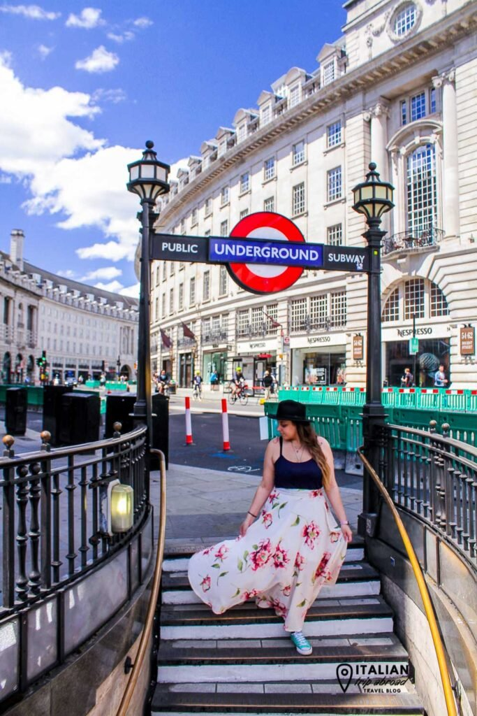 Piccadilly Circus entrance of the Tube Line from Regent Street