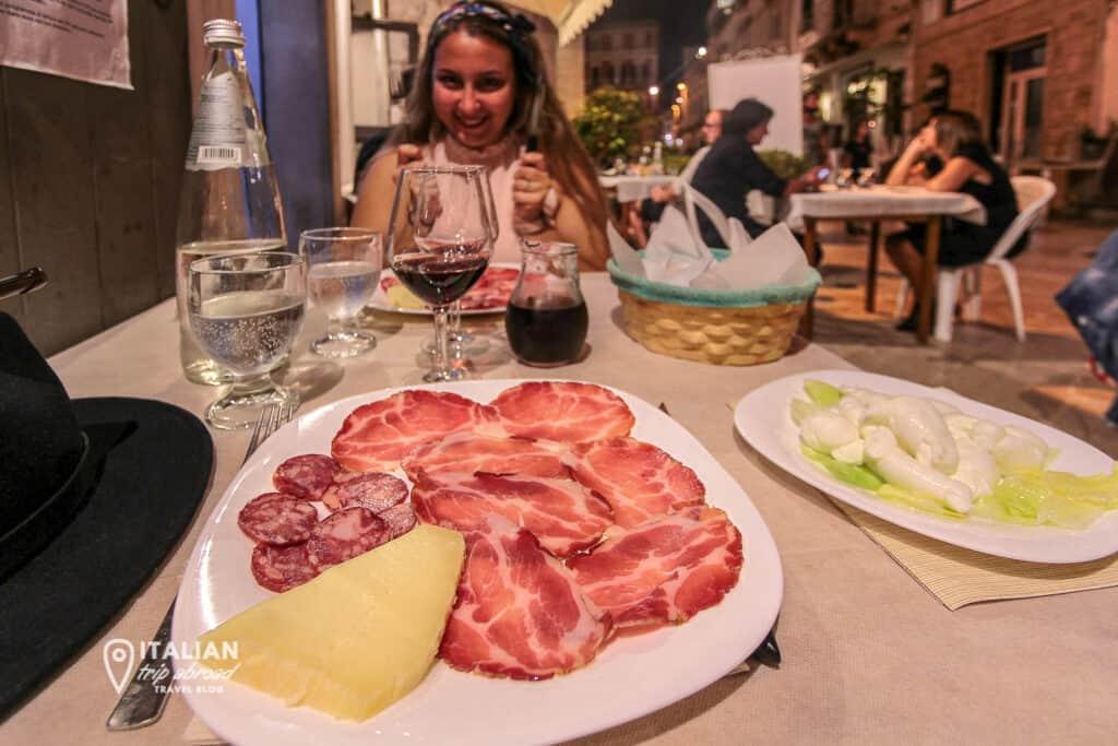 Traditional Italian food in Puglia, Italy